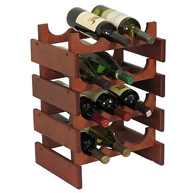 Wooden Mallet Dakota 12 Bottle Floor Wine Rack; Mahogany