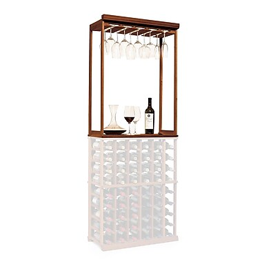 Wine Enthusiast Companies N'finity Tabletop Wine Glass Rack; Dark Walnut