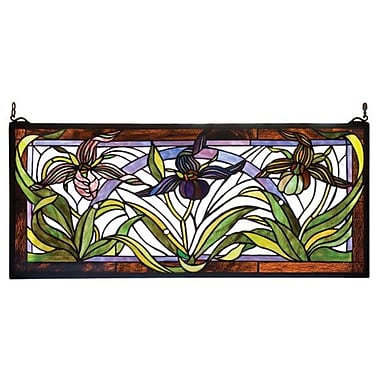 Meyda Tiffany Victorian Lady Slippers Stained Glass Window