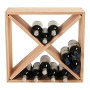 Wine Enthusiast Companies Stackable Cube 24 Bottle Tabletop Wine Rack; Natural