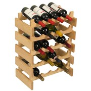 Wooden Mallet Dakota 20 Bottle Wine Rack; Unfinished