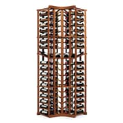 Wine Enthusiast Companies N'finity 72 Bottle Floor Wine Rack; Dark Walnut