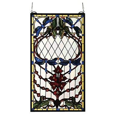 Meyda Tiffany Dragonfly Allure Stained Glass Window