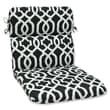 Pillow Perfect New Geo Chair Cushion; Black / White