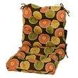 Greendale Home Fashions Outdoor Seat / Back Chair Cushion; Flowers on Chocolate