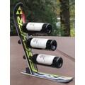 Ski Chair Snow 3 Bottle Tabletop Wine Rack; Black Fisher