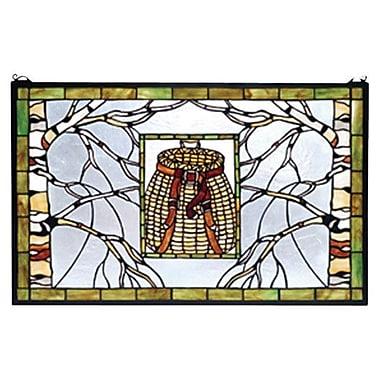 Meyda Tiffany Pack Basket Stained Glass Window