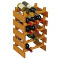 Wooden Mallet Dakota 15 Bottle Wine Rack; Medium Oak