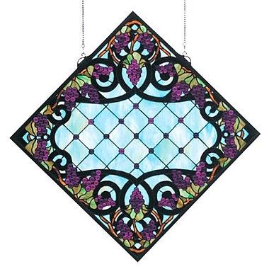 Meyda Tiffany Tiffany Jeweled Grape Stained Glass Window
