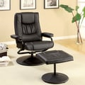 Hokku Designs Slate Swivel Recliner Chair and Ottoman