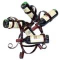 Metrotex Designs 5 Bottle Tabletop Wine Rack; Merlot
