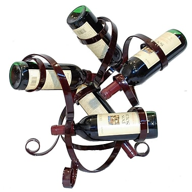 Metrotex Designs 5 Bottle Tabletop Wine Rack; Merlot