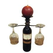 Metrotex Designs Iron 1 Bottle Tabletop Wine Rack; Meteor