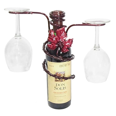 Metrotex Designs Grapevine 1 Bottle Tabletop Wine Rack; Merlot