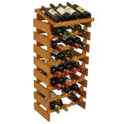 Wooden Mallet Dakota 32 Bottle Wine Rack; Medium Oak