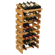 Wooden Mallet Dakota 32 Bottle Wine Rack; Light Oak