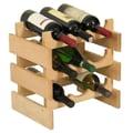 Wooden Mallet Dakota 9 Bottle Wine Rack; Unfinished