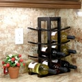 Oceanstar Design Bamboo 12 Bottle Tabletop Wine Rack; Dark Espresso