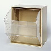 Quantum Clear Tip Out Bins (1 Compartment); Ivory