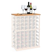 Wine Enthusiast Companies N'finity Wine Rack Tabletop; Natural