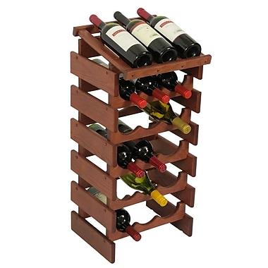 Wooden Mallet Dakota 18 Bottle Floor Wine Rack; Mahogany