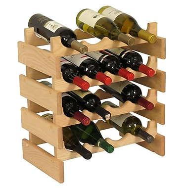 Wooden Mallet Dakota 16 Bottle Floor Wine Rack; Unfinished