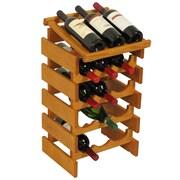 Wooden Mallet Dakota 15 Bottle Wine Rack; Medium Oak