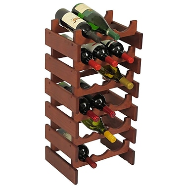 Wooden Mallet Dakota 18 Bottle Floor Wine Rack; Mahogany
