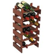 Wooden Mallet Dakota 18 Bottle Wine Rack; Mahogany