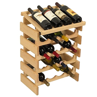 Wooden Mallet Dakota 20 Bottle Floor Wine Rack; Unfinished