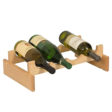 Wooden Mallet Dakota 4 Bottle Tabletop Wine Rack; Unfinished