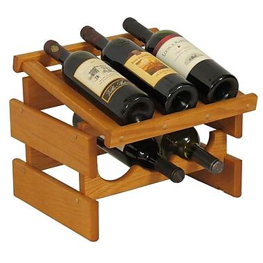 Wooden Mallet Dakota 6 Bottle Tabletop Wine Rack; Medium Oak