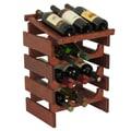 Wooden Mallet Dakota 12 Bottle Wine Rack; Mahogany