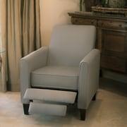 Home Loft Concept Erick Recliner Club Chair; Grey