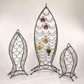 Cape Craftsmen Nested Fish 3 Piece Set 35 Bottle Wine Rack