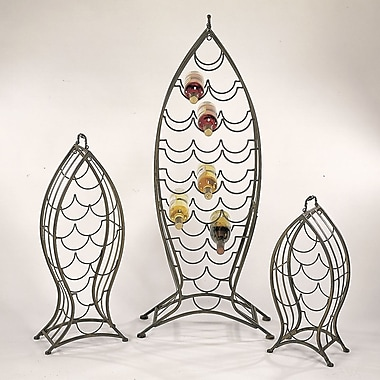 Cape Craftsmen Nested Fish 3 Piece 35 Bottle Wine Rack Set