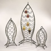 Cape Craftsmen Nested Fish 3 Piece Set 35 Bottle Wine Rack