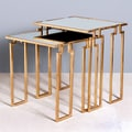 Interlude Home Bermondsey 2 Piece Nesting Tables; Gold