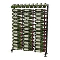 VintageView 117 Bottle Wine Rack; Black