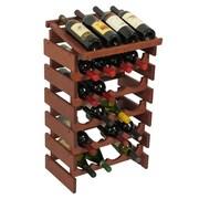 Wooden Mallet Dakota 24 Bottle Wine Rack; Mahogany