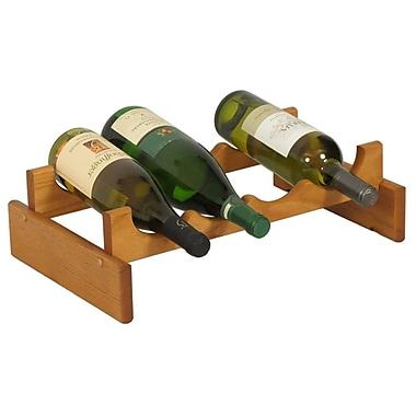 Wooden Mallet Dakota 4 Bottle Tabletop Wine Rack; Medium Oak