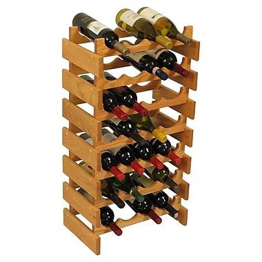 Wooden Mallet Dakota 28 Bottle Floor Wine Rack; Light Oak