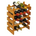 Wooden Mallet Dakota 20 Bottle Wine Rack; Medium Oak
