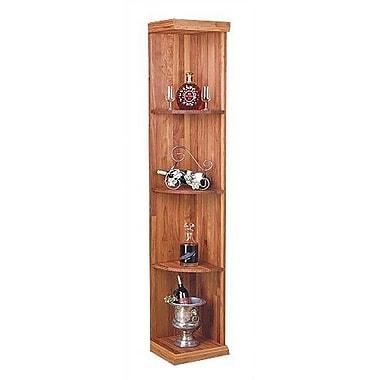Wine Cellar Designer Series 4 Bottle Floor Wine Rack; Unstained Premium Redwood