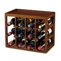 Wine Enthusiast Companies Stackable Cube 12 Bottle Wine Rack; Walnut Stain