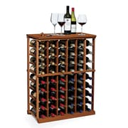Wine Enthusiast Companies N'finity 60 Bottle Wine Rack; Dark Walnut