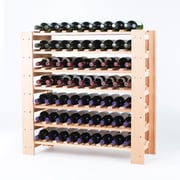 Wine Enthusiast Companies Swedish 63 Bottle Floor Wine Rack; Natural