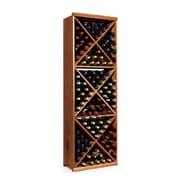 Wine Enthusiast Companies N'finity 132 Bottle Floor Wine Rack; Dark Walnut
