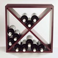 Wine Enthusiast Companies 24 Bottle Wine Rack; Mahogany