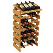 Wooden Mallet Dakota 28 Bottle Wine Rack; Light Oak